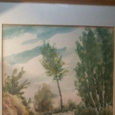 Arte: PAISAJE ACUARELA SOBRE PAPEL ORIGINAL. FIRMADO JUAN FRANCISCO VIDALLER. SIGLO XX.. Lote 128350363