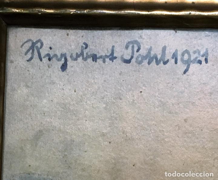 Arte: Aussig, Strekov Castle, (en la República Checa) por Rigobert Pohl (1884-1965) en 1921 - Foto 2 - 128513183
