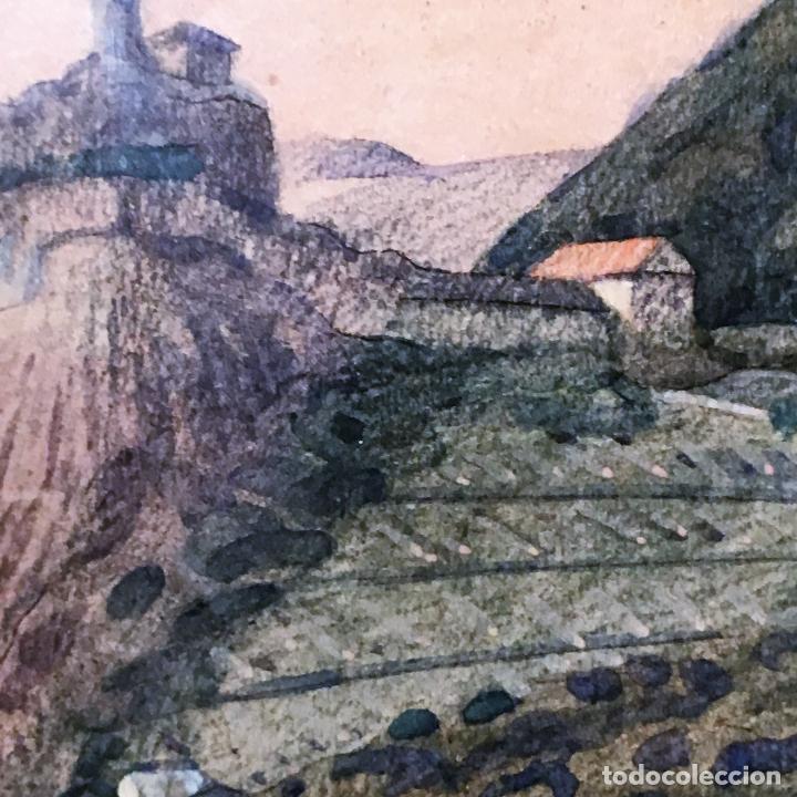 Arte: Aussig, Strekov Castle, (en la República Checa) por Rigobert Pohl (1884-1965) en 1921 - Foto 4 - 128513183