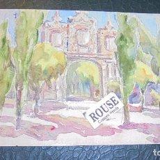 Arte: PAMPLONA - ANTIGUA ACUARELA ORIGINAL SIN FIRMAR - 20X13 CM. . Lote 128514843