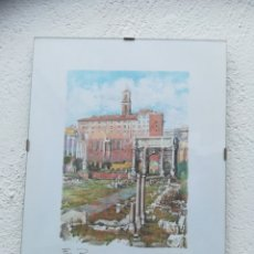 Arte: ACUARELA F. NERI ITALIANO. FORO ROMANO. Lote 128569163