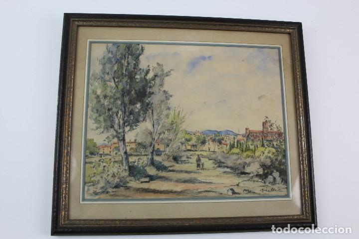 C- 713. ACUARELA SOBRE PAPEL, PAISAJE. FIRMADA VICTORIA. S.XX. (Arte - Acuarelas - Contemporáneas siglo XX)