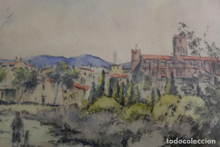 Arte: C- 713. ACUARELA SOBRE PAPEL, PAISAJE. FIRMADA VICTORIA. S.XX. - Foto 4 - 128636971