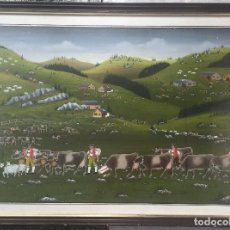 Arte: JAKOB BINDER , GOUACHE ORIGINAL , TIROL , PROCEDENTE DE GALERIE SUSI BRUNNER ZURICH . Lote 128649107