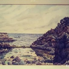 Arte: ACUARELA JOSEP SABANÈS I CASASAMPERA. Lote 128710491