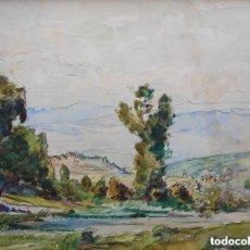 Arte: JOAQUIN MIR TRINXET (1873-1940) LÁPIZ Y ACUARELA/PAPEL 32 X 25 CM. FIRMADA. AÑOS 20-30. CON MARCO.. Lote 128713267