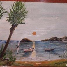 Arte: ACUARELA PINTOR RIELO MARINA LUGO. Lote 128714947