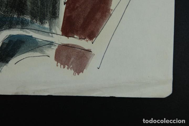 Arte: Nacho Costa Beiro (1953) Acuarela y ceras sobre papel Personaje sentado firmado - Foto 9 - 128737791