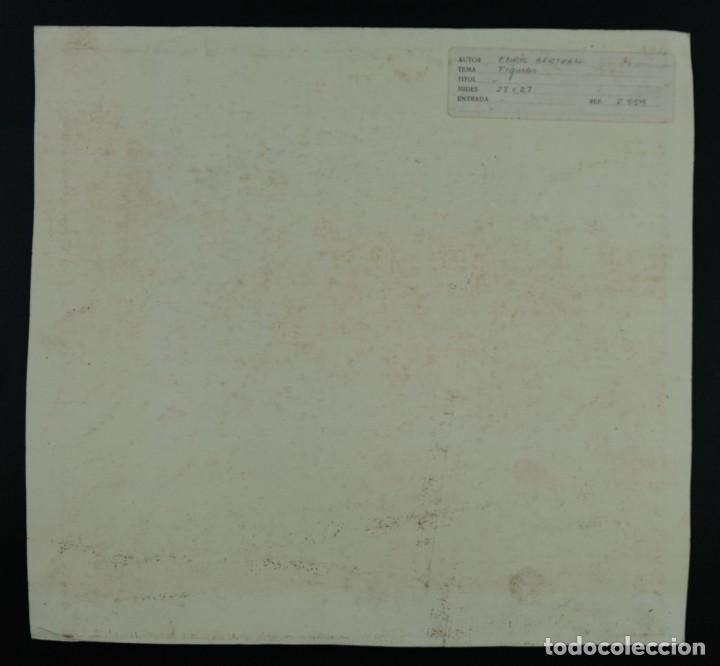 Arte: Nacho Costa Beiro (1953) Acuarela y ceras sobre papel Personaje sentado firmado - Foto 10 - 128737791