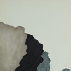 Arte: DIBUJO ACUARELA Y TINTA SOBRE PAPEL PAISAJE MONTAÑA CON CASA FIRMADO FCHE 1988 . Lote 129014039