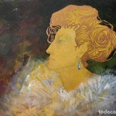 Arte: DAMA ELEGANTE POR ANTONIO DE IGNACIO VICENS (PALMA DE MALLORCA 1944-2011). Lote 129113227