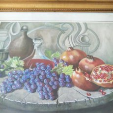 Arte: ACUARELA, BODEGÓN AÑOS 60, ENMARCACIÓN MADERA PAN DE ORO. FIRMADO MORENO. Lote 129362319