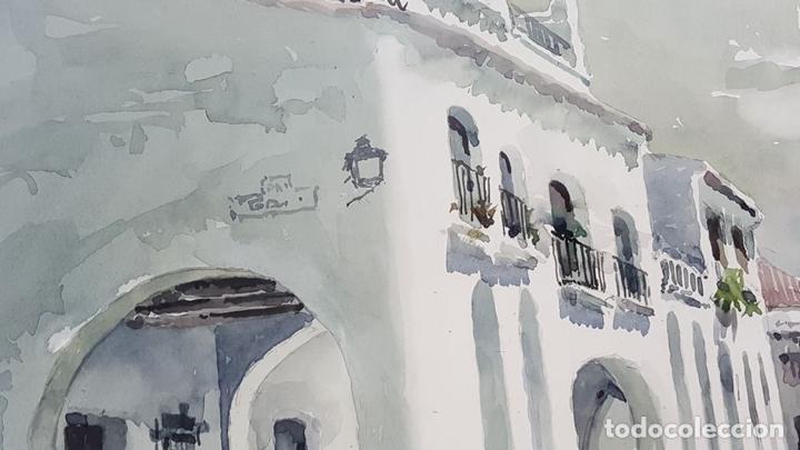 Arte: PAISAJE COSTERO. ACUARELA SOBRE PAPEL. JOSEP OLIVÉ. 1982. - Foto 2 - 129426775