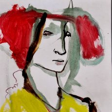 Arte: LOTHAR KAMPMANN (ALEMANIA 1925-1993 VINCULADO A TORREMOLINOS), PRECIOSA ACUARELA FIRMADA.. Lote 129539498