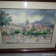 Arte: GRAN ACUARELA DE JOSÉ ANTONIO MARTICORENA.. Lote 129559319