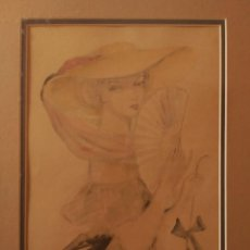 Arte: JOSÉ LUIS FLORIT RODERO (1909-2001) ACUARELA SOBRE PAPEL. FIRMADA. AÑOS 40. Lote 129642547