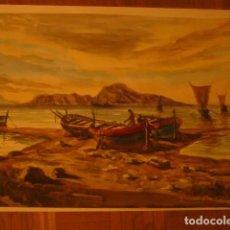 Arte: ACUARELA DE J.VILLENA. TEMA: MARINA. DIMENSIONES: 62X47 CM.. Lote 129675867