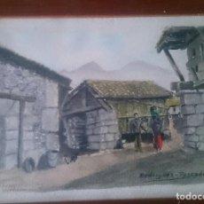 Arte: RINCÓN MONTAÑÉS. VALDEON ACUARELA RODRÍGUEZ PESCADOR. Lote 129737763