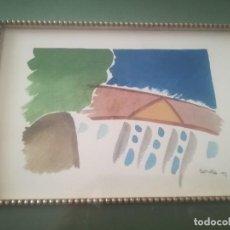 Arte: BONITA ACUARELA FIRMADA INCLUYE MARCO MIREN FOTOS . Lote 129982483