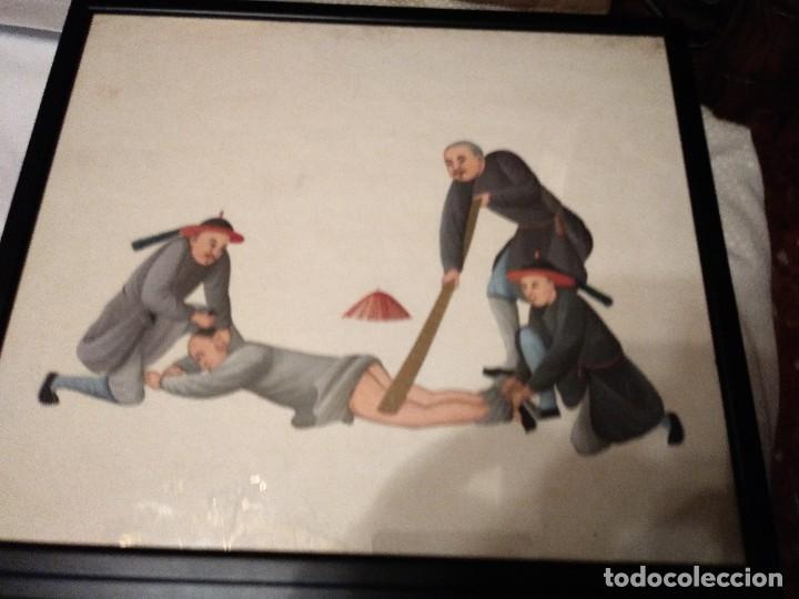 ANTIGUAS PINTURAS CHINAS (Arte - Acuarelas - Contemporáneas siglo XX)