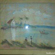 Arte: PINTURA ALICANTINA PINTOR DE ALICANTE ANTIGUO PASTEL FIRMADO IGLESIAS. Lote 130086143