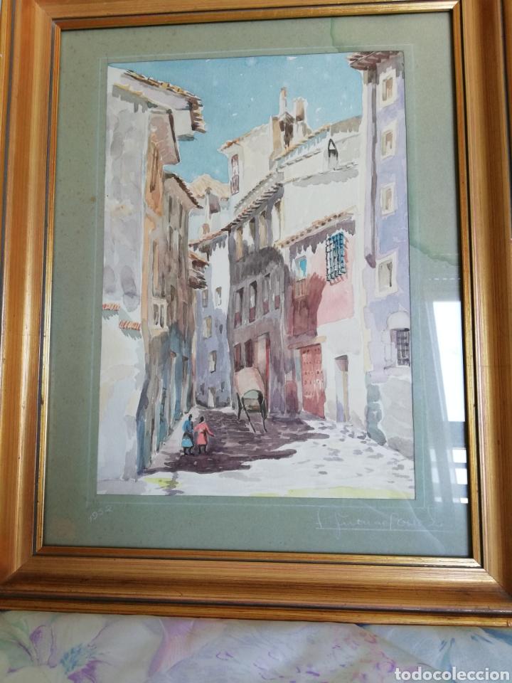 ACUARELA DE 1952 (Arte - Acuarelas - Contemporáneas siglo XX)