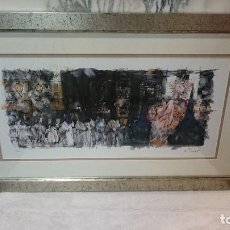 Arte: ESPECTACULAR ACUARELA DE M. TENDERO, LA PIEDAD SALIENDO DE S. CAYETANO,ZARAGOZA. Lote 130487786