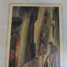 Arte: ACUARELA SIN FIRMAR. FORMATO 35 X 50,5 CM. Lote 130765420