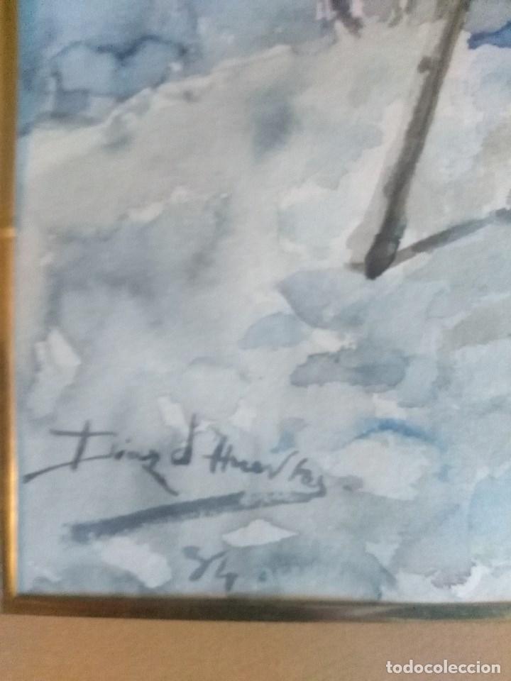 Arte: ACUARELA DE ANGEL DIAZ HUERTAS. XIX - Foto 3 - 117090111