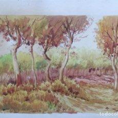 Arte: ACUARELA FIRMADA CHICHARRO 1912 , ORIGINAL. Lote 130915488