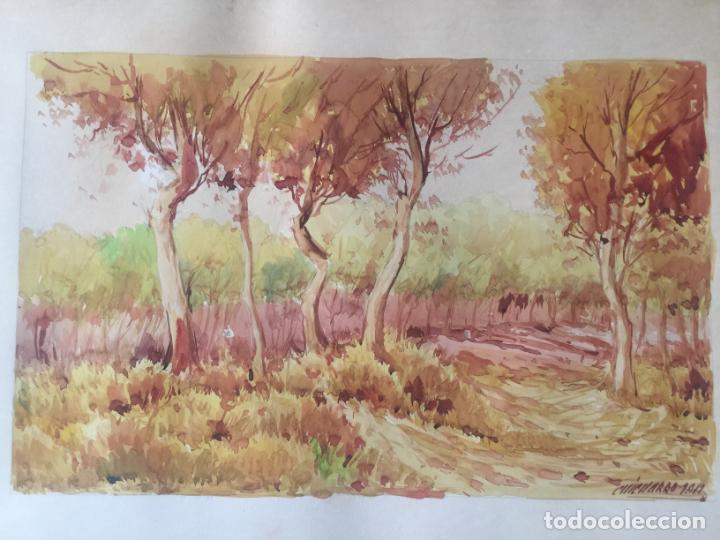 Arte: ACUARELA FIRMADA CHICHARRO 1912 , ORIGINAL - Foto 2 - 130915488