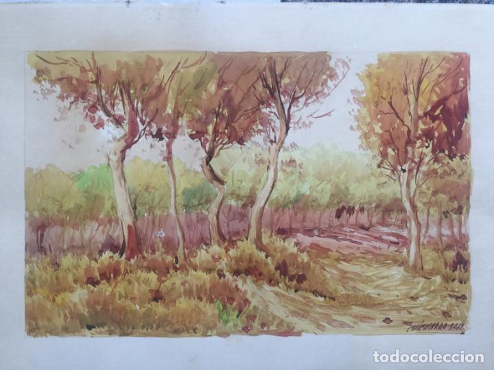 Arte: ACUARELA FIRMADA CHICHARRO 1912 , ORIGINAL - Foto 3 - 130915488