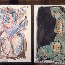 Arte: FRANCISCO MATEOS. PERSONAJES GROTESCOS.. Lote 130915520