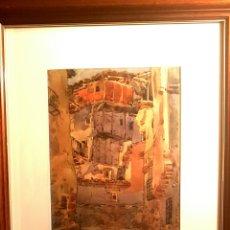 Arte: MIGUEL MARTINEZ VERCHILI (CASTELLÓN 1898-VALENCIA, 1989) LA ALBERCA ,ACUARELA (32 X 24'5). Lote 130935805