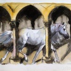 Arte: CABALLO EN ARQUERÍA GÓTICA, POR ELOY MORALES. Lote 131047980