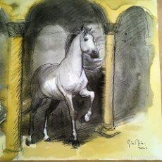 Arte: CABALLO EN UNA ARQUERÍA POR ELOY MORALES. Lote 131049348