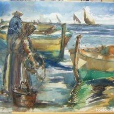 Arte: PRECIOSA ACUARELA DEL PINTOR SALVA. Lote 131049672
