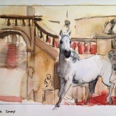 Arte: CABALLO EN LA ESCALINATA DE UN PALACIO, POR ELOY MORALES. Lote 131050224