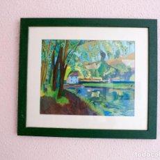 Arte: ACUARELA 47X41. Lote 131200980