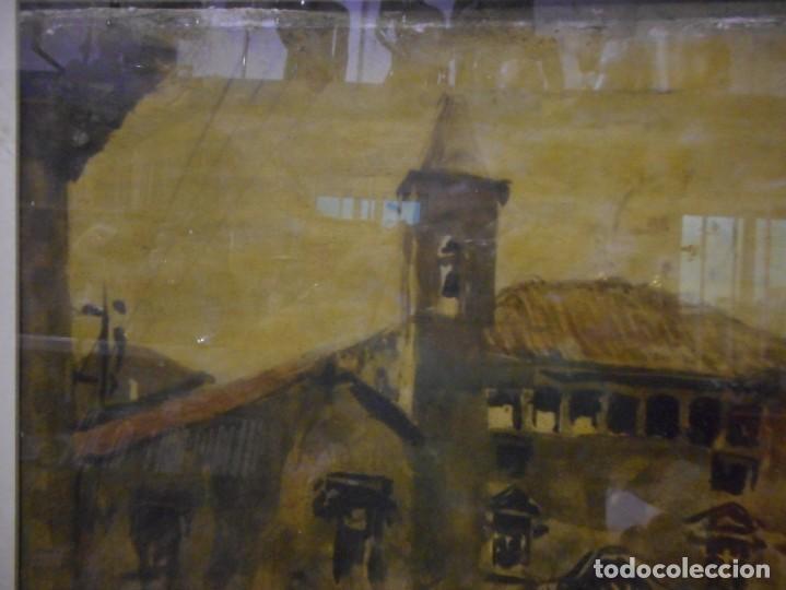 Arte: preciosa gran acuarela ceferino olive reus plaça de vic - Foto 5 - 131287527