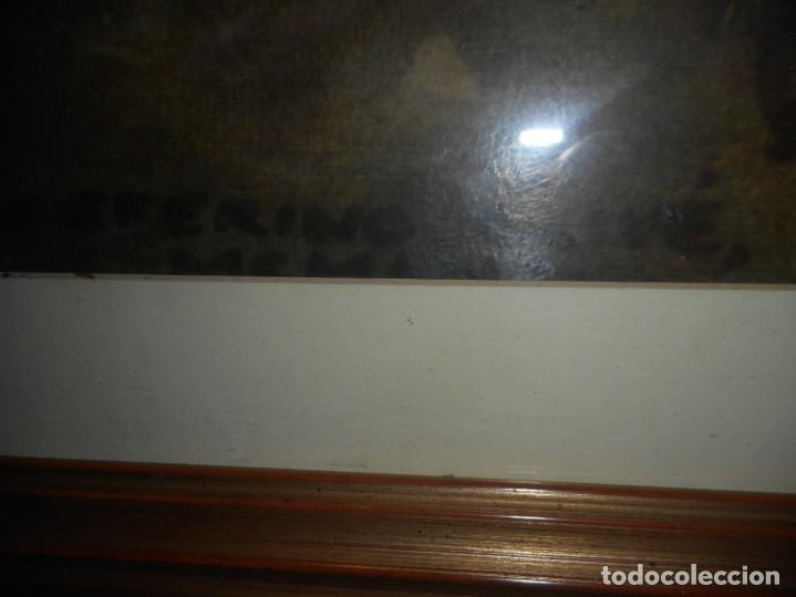 Arte: preciosa gran acuarela ceferino olive reus plaça de vic - Foto 6 - 131287527