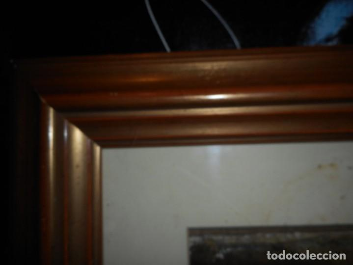 Arte: preciosa gran acuarela ceferino olive reus plaça de vic - Foto 7 - 131287527