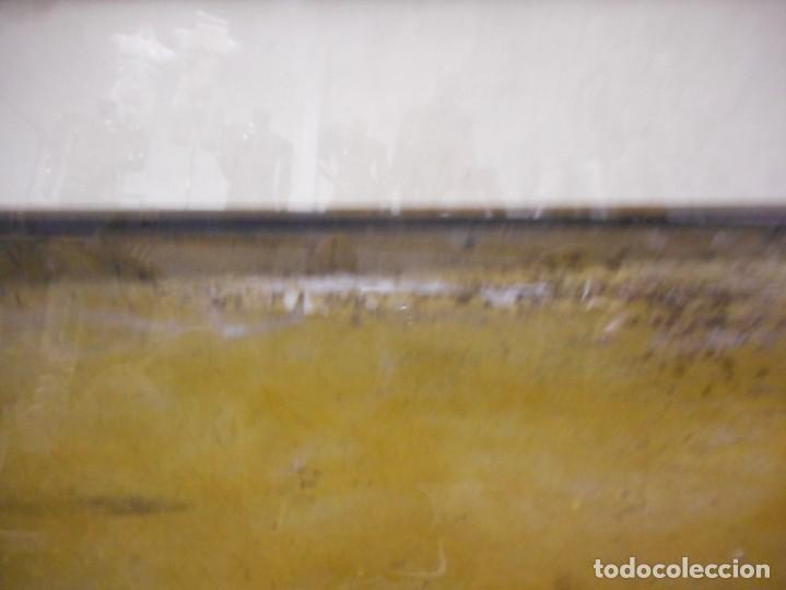 Arte: preciosa gran acuarela ceferino olive reus plaça de vic - Foto 11 - 131287527