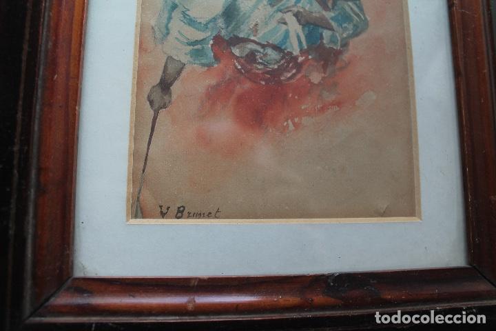 Arte: ACUARELA LUMINISTA FINALES DEL XIX; ESTILO FORTUNY - Foto 2 - 131295119