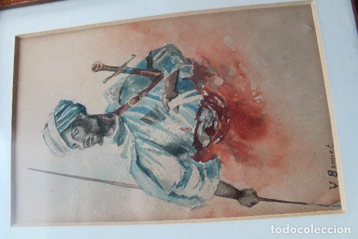 Arte: ACUARELA LUMINISTA FINALES DEL XIX; ESTILO FORTUNY - Foto 3 - 131295119