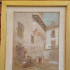 Arte: JOAN MORALES (1890 - ?) – GIRONA CAL BISBE, DIBUIXAT A LLAPIS I AQUAREL·LA, ANY 1905. Lote 131850158