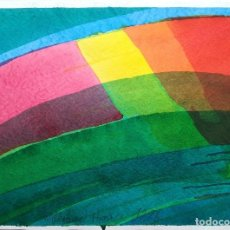 Arte: • WILLIBRORD HAAS ACUARELA OBRA ORIGINAL 60X40 CM. Lote 131927446