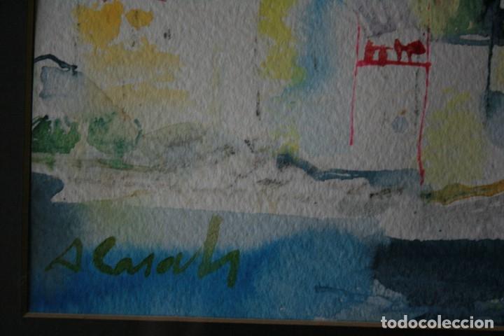 Arte: AMADEU CASALS PONS, ( 1930 - 2010 ) EXTRAORDINARIA ACUARELA DE CADAQUES. FIRMADA - Foto 5 - 131938302