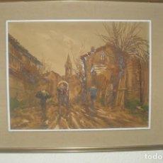 Arte: MARIANO BRUNET (1918-1999)- ACUARELA SOBRE MADERA - MARTIVELL - FIRMADO. Lote 132158630