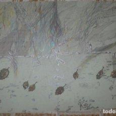 Arte: DOBLE ACUARELA ORIGINAL DE JULIÀ MATEU. 1979. - ATMÓSFERA CUANTICA -. Lote 132203410